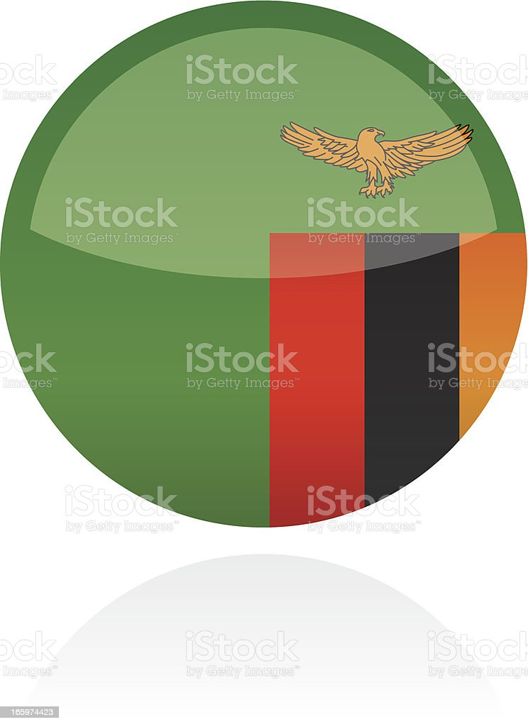 Zambia, Africa Flag Button royalty-free zambia africa flag button stock vector art & more images of all african flags