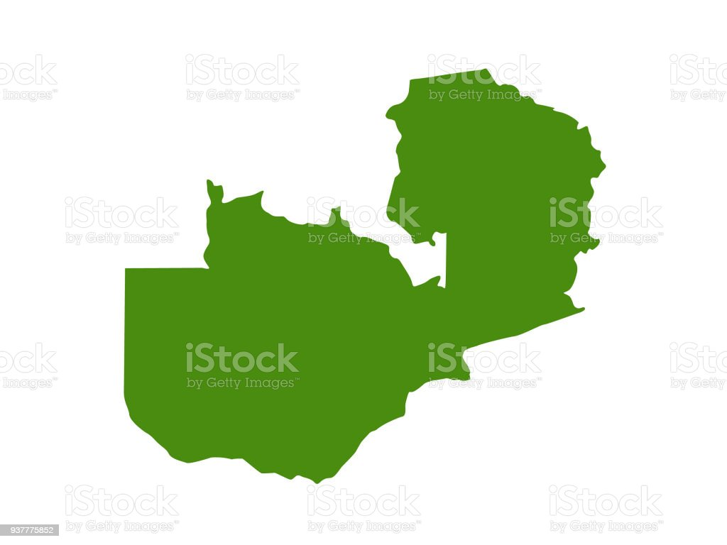 Zambia Map Stock Vector Art More Images Of Africa 937775852 Istock