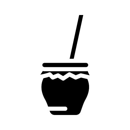 zambomba spain drink glyph icon vector illustration