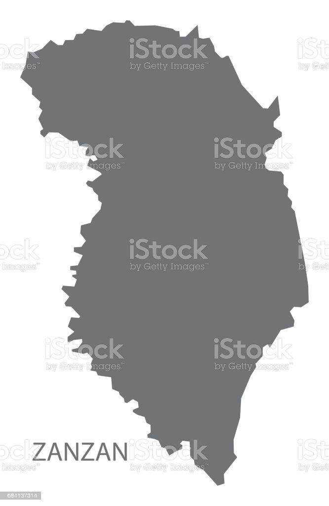 Zanzan Ivory Coast map grey illustration silhouette zanzan ivory coast map grey illustration silhouette - immagini vettoriali stock e altre immagini di carta geografica royalty-free
