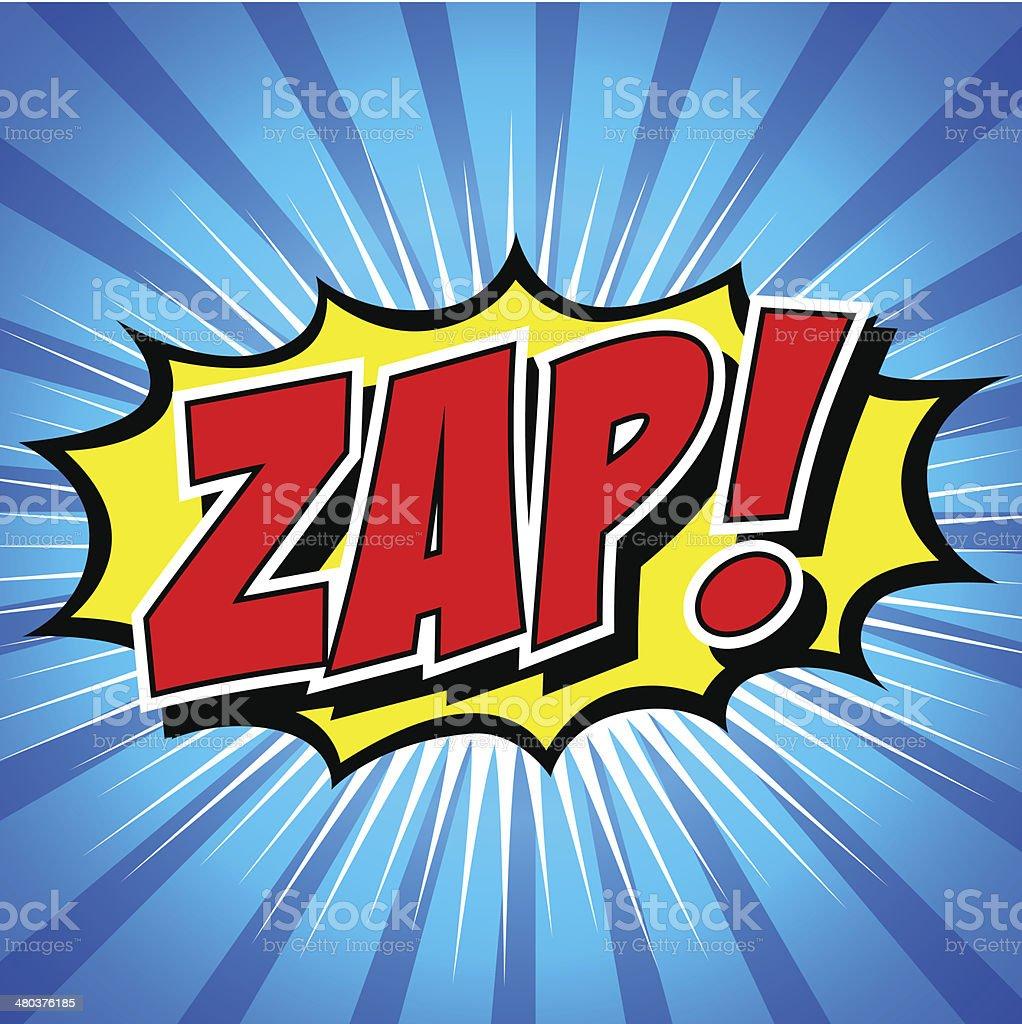 Zap! - Comic Speech Bubble, Cartoon vector art illustration