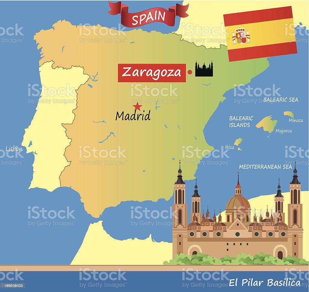 Zaragoza vector art illustration
