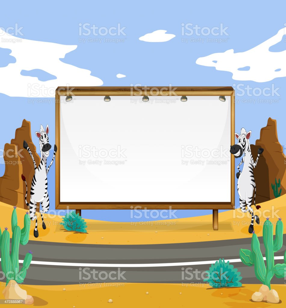 Zebra and white board royalty-free zebra and white board stock vector art & more images of activity