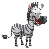 Zebra cartoon style