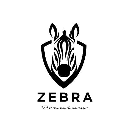 Zebra head logo icon design
