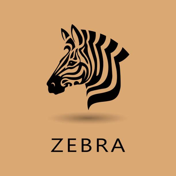zebra-kopf - zebras stock-grafiken, -clipart, -cartoons und -symbole