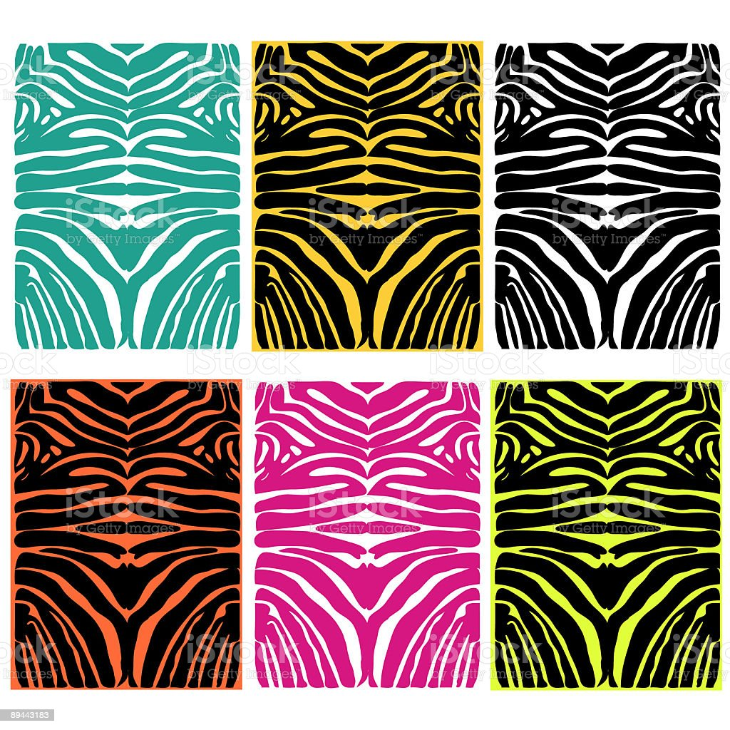 zebra hide textures royalty-free stock vector art