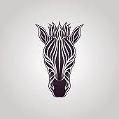 Zebra logo vector icon design illustrations