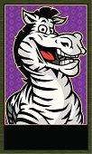 Zebra Mascot banner