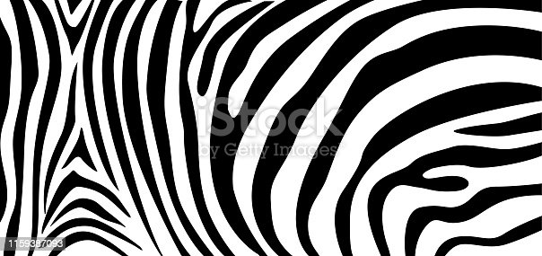 istock Zebra pattern texture repeating. Simple pattern, black line for textile design fabric. 1159387093