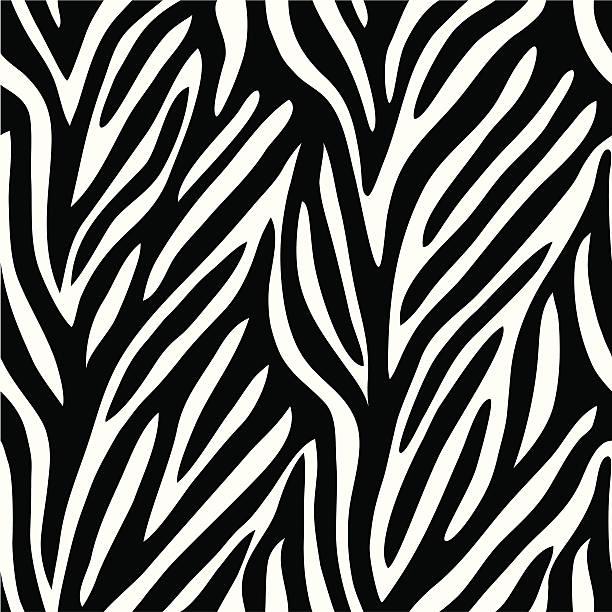ilustrações de stock, clip art, desenhos animados e ícones de zebra padrão - padrões zebra