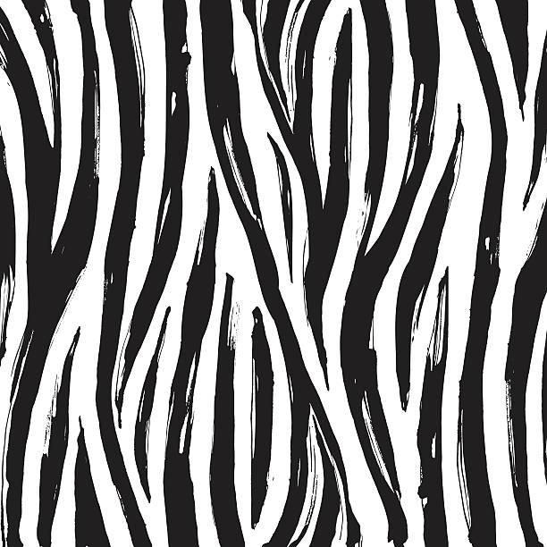 Zebra print background pattern. Black and white Vector illustration Zebra print background pattern. Black and white animal markings stock illustrations