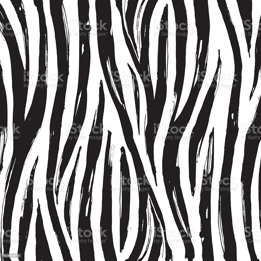Zebra print background pattern. Black and white - ilustración de arte vectorial