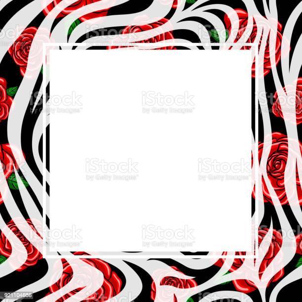 Zebra print border with red rose design vector id921104686?b=1&k=6&m=921104686&s=612x612&h=o6vnvfyeg gzrqlwvms lakijhuqfsdy74macrdogmw=
