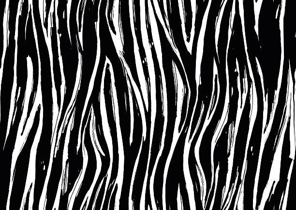 zebra print seamless background pattern. black and white - lederverarbeitung stock-grafiken, -clipart, -cartoons und -symbole
