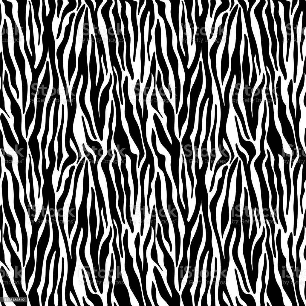 Zebra Print Seamless Pattern