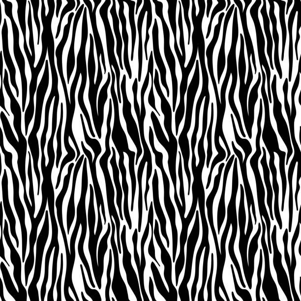 ilustrações de stock, clip art, desenhos animados e ícones de zebra print seamless pattern - padrões zebra