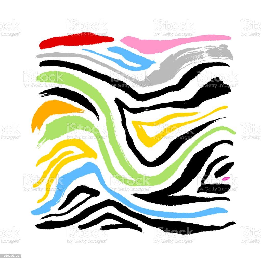 zebra print stock vector art more images of abstract 916766700 rh istockphoto com animal print cebra vector zebra print vector image