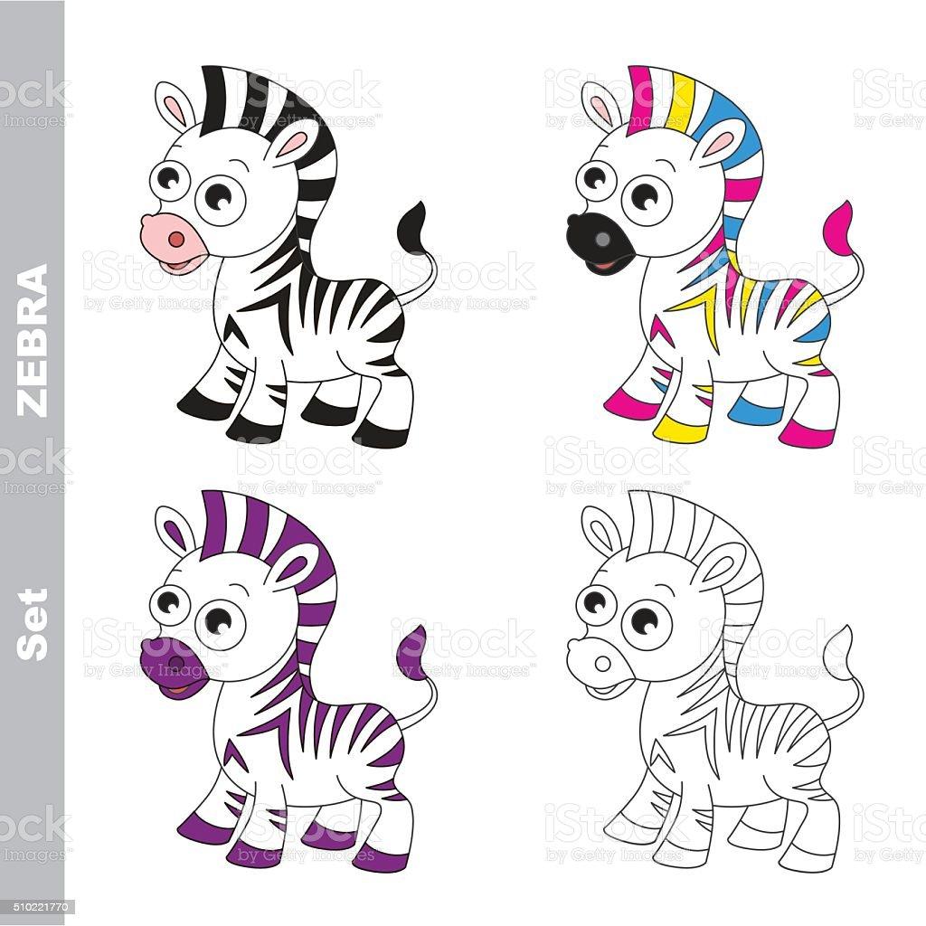 Fantástico Páginas De Color Cebra Embellecimiento - Dibujos de ...