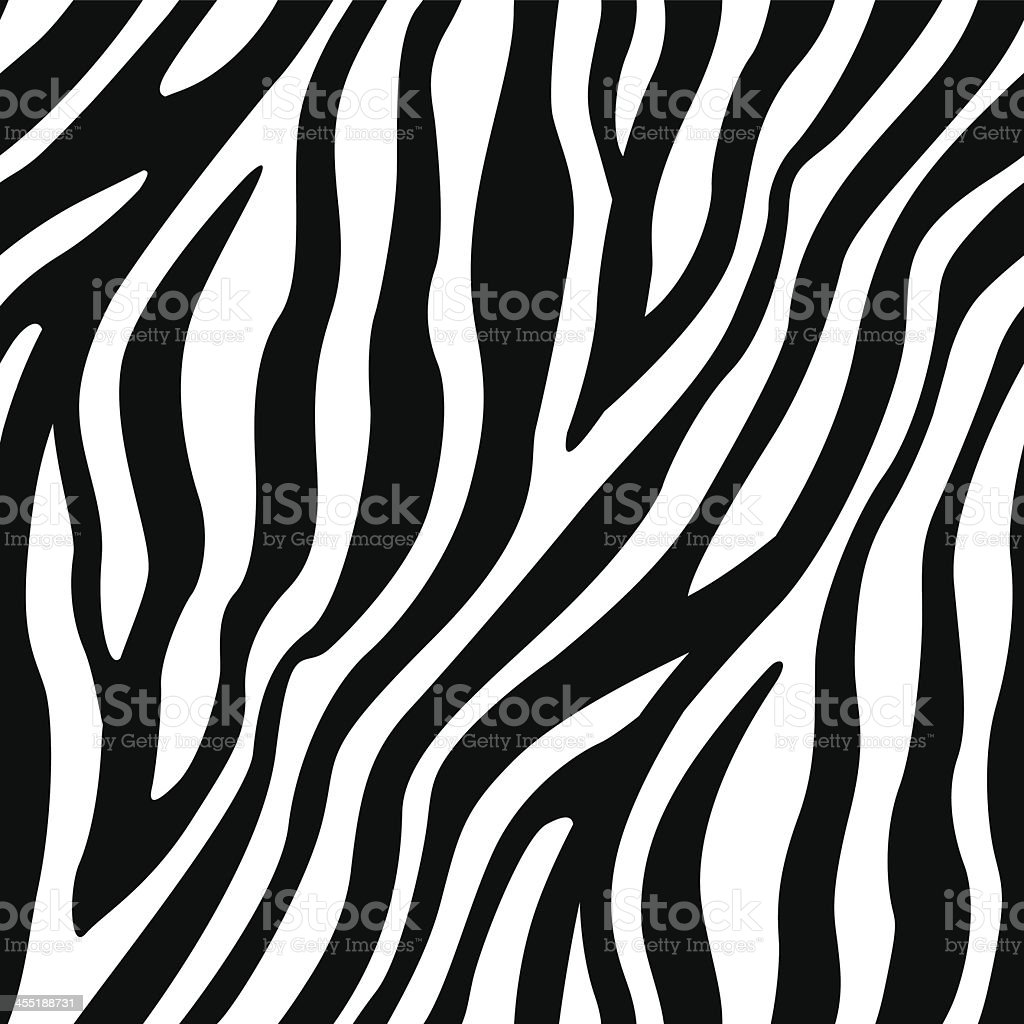 Zebra Stripes Seamless Pattern vector art illustration