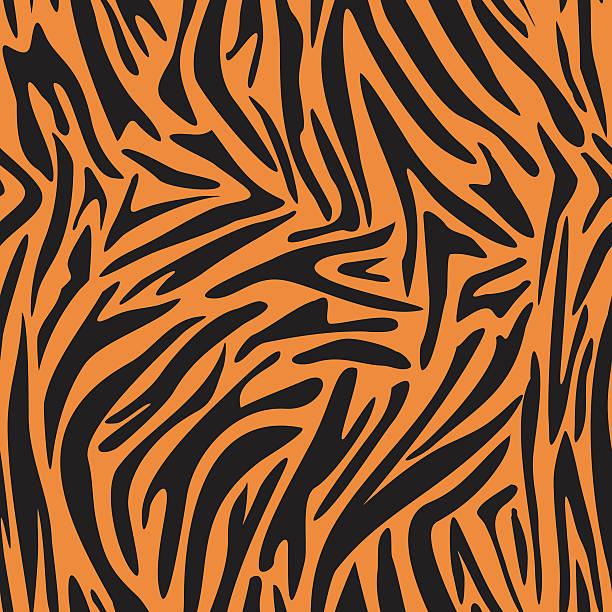 zebra, tiger-streifen. nahtlose tiger hintergrund textur. - pelzmäntel stock-grafiken, -clipart, -cartoons und -symbole