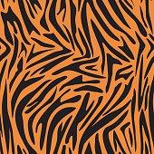 Zebra, tiger stripes. Seamless tiger background texture.
