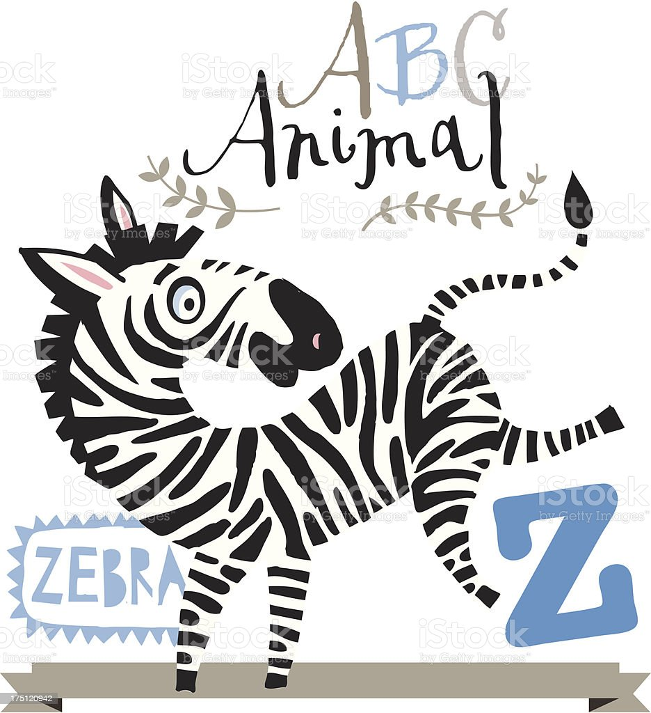 ABC zebra royalty-free stock vector art