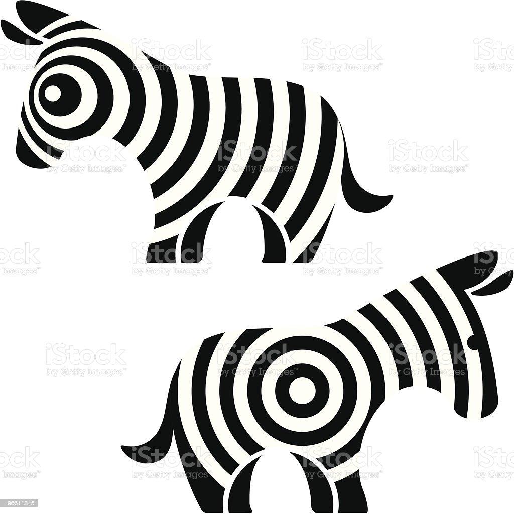 zebra - Royalty-free Cartoon vectorkunst