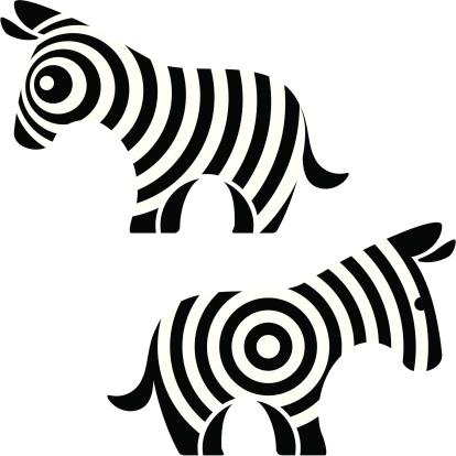 Zebra Stockvectorkunst en meer beelden van Cartoon