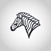 Zebra vector logo icon illustration