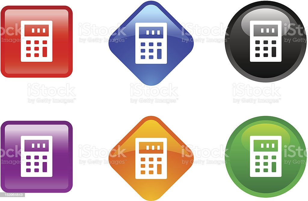 'Zee' Icon Series   Calculator royalty-free zee icon series calculator stock vector art & more images of black color