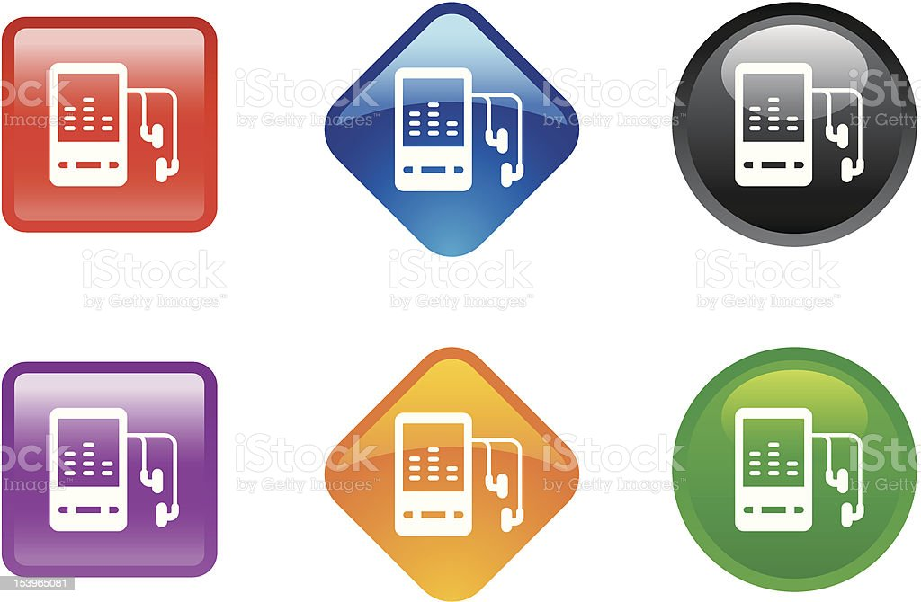 'Zee' Icon Series | MP3 Player royalty-free stock vector art