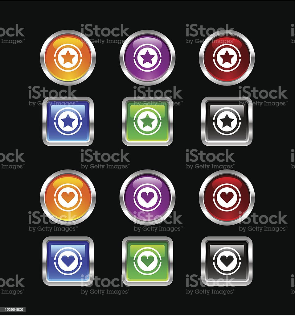 'Zee' Icon Series | Reating & Favourite royalty-free stock vector art