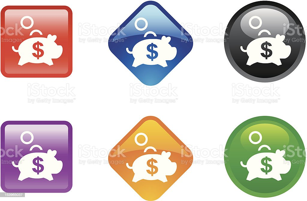 'Zee' Icon Series | Saving royalty-free zee icon series saving stock vector art & more images of banking