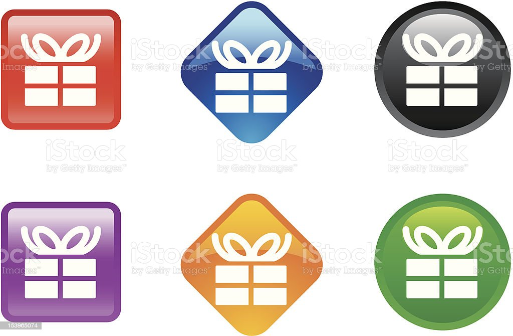 'Zee' Icon Series | Shopping & Gift royalty-free stock vector art