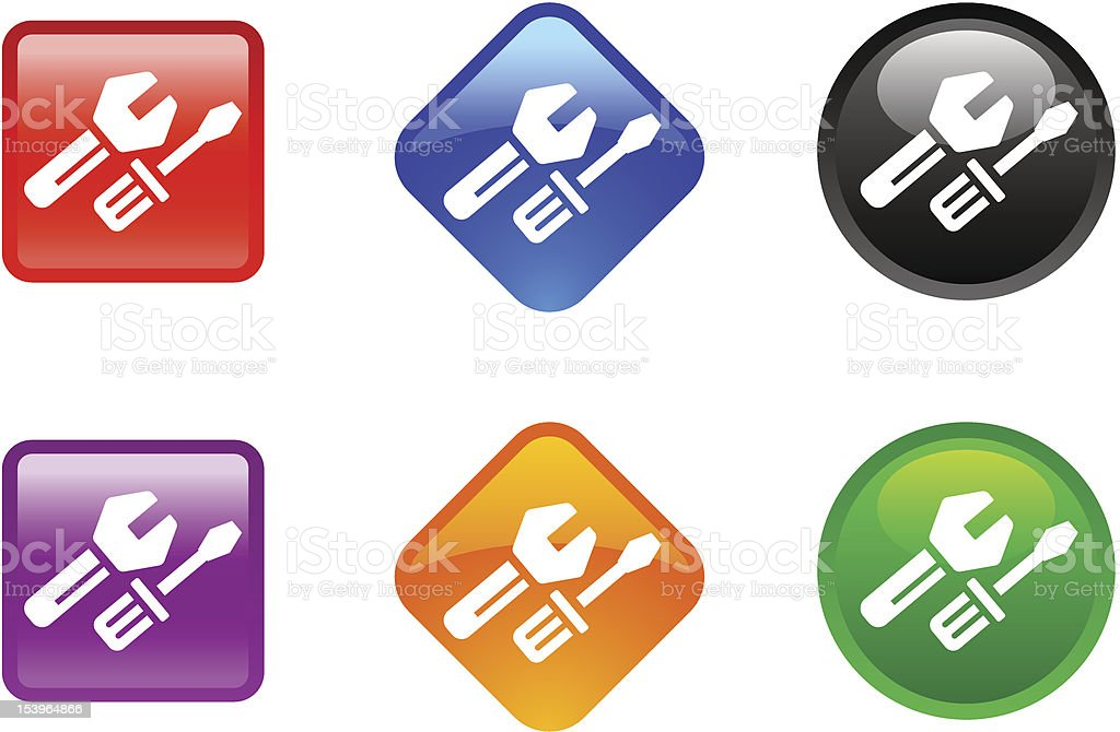 'Zee' Icon Series | Tools royalty-free zee icon series tools stock vector art & more images of black color