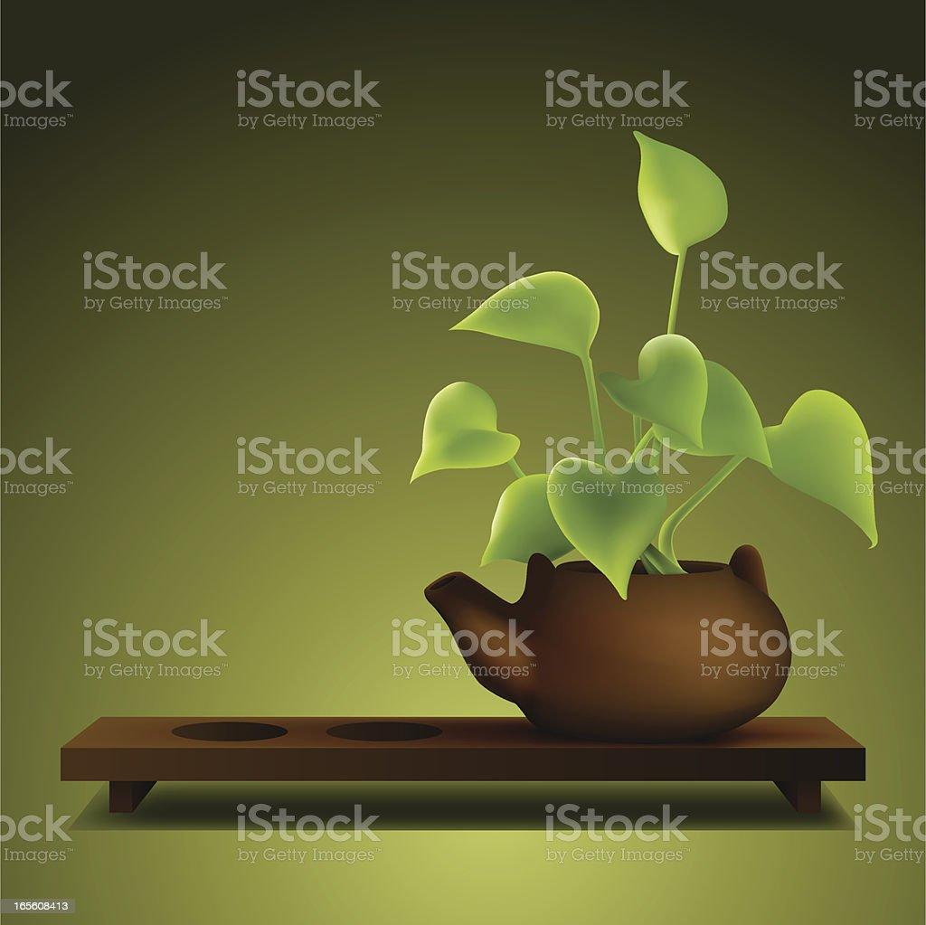 Zen Ambient Bonsai royalty-free stock vector art