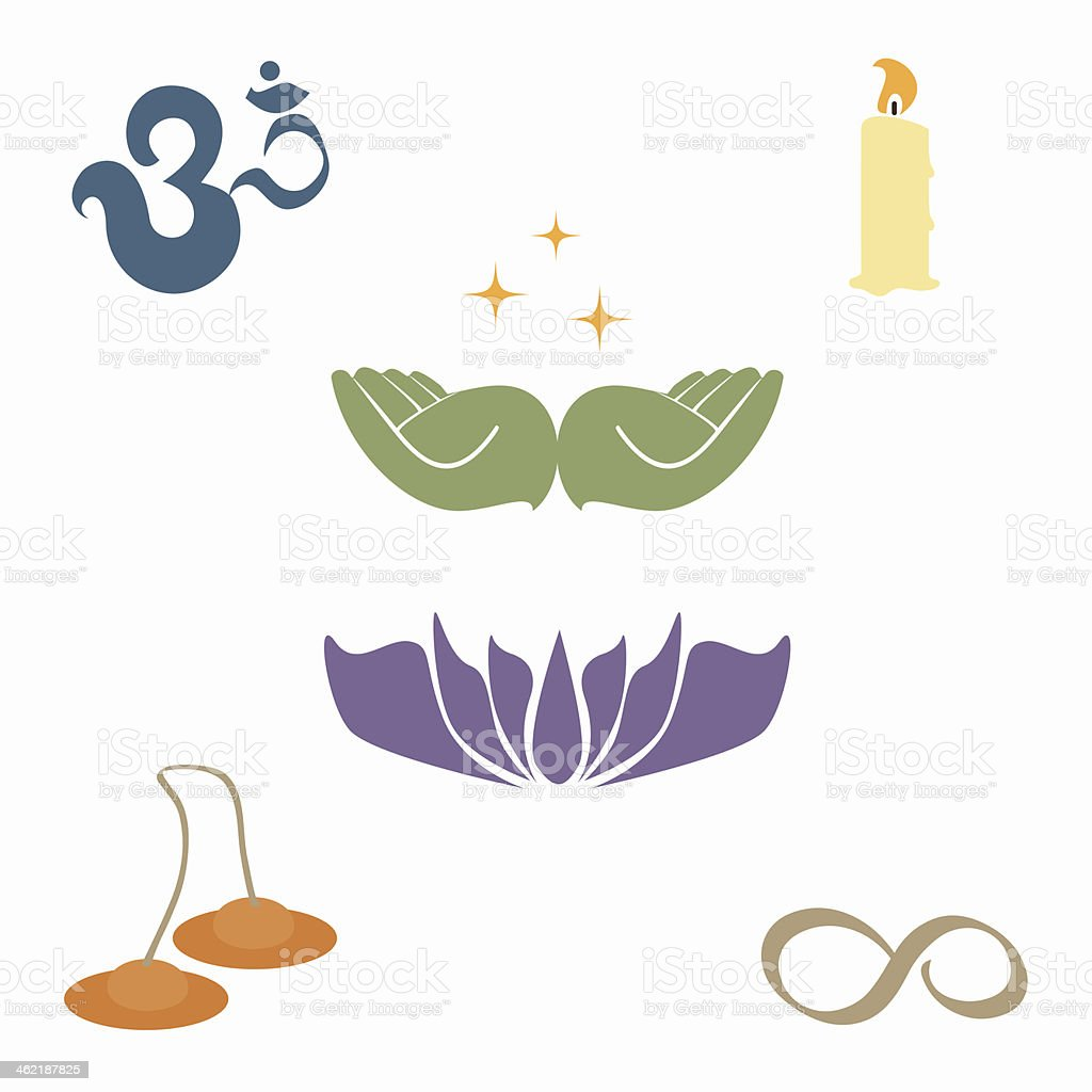 Zen and Metaphysical Icons vector art illustration