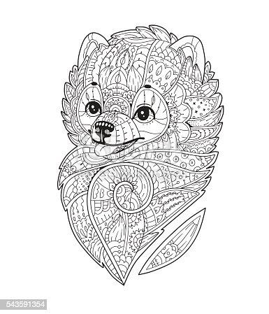 Zen Art Stylized Dog In Vector Stock Vector Art & More