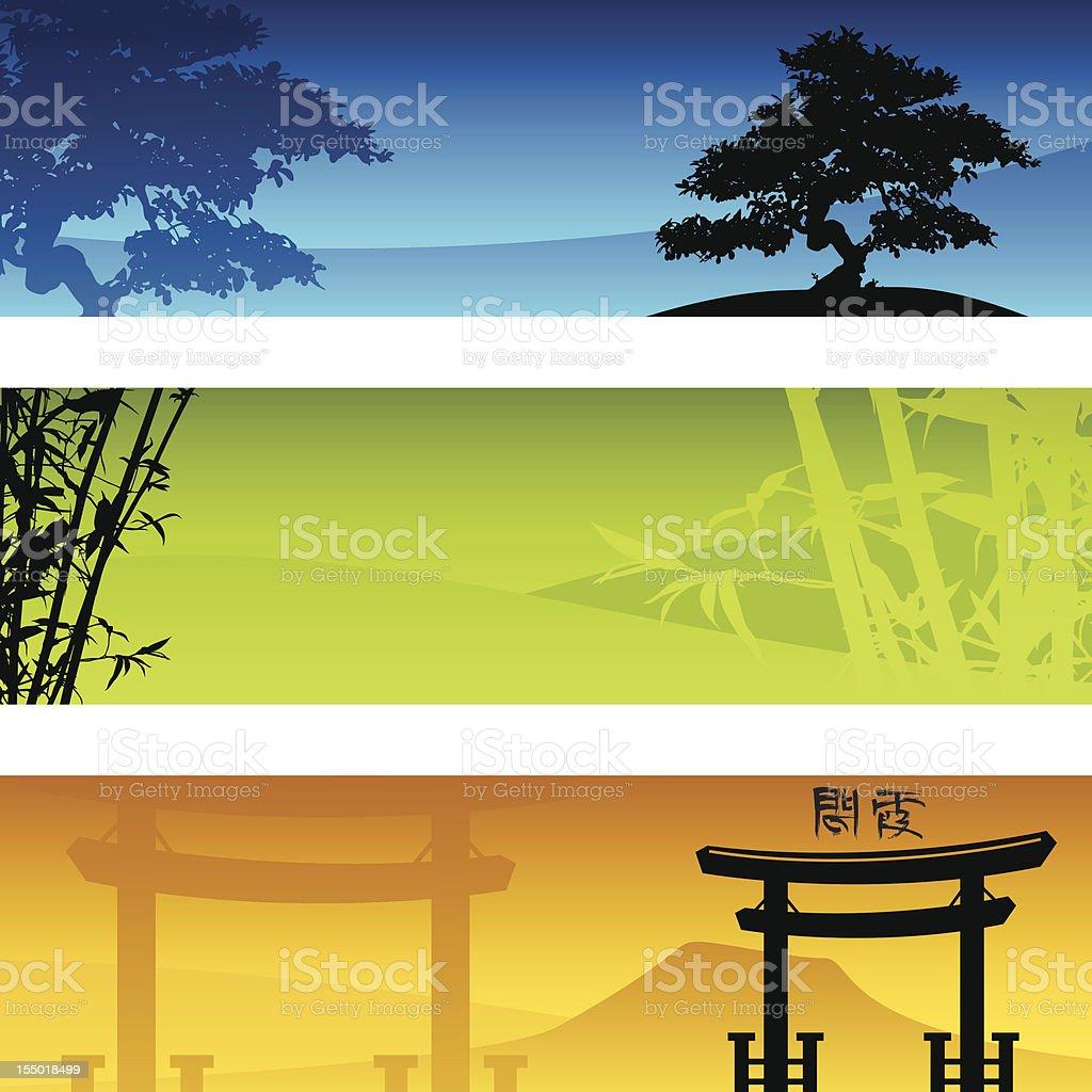 Zen Banners vector art illustration