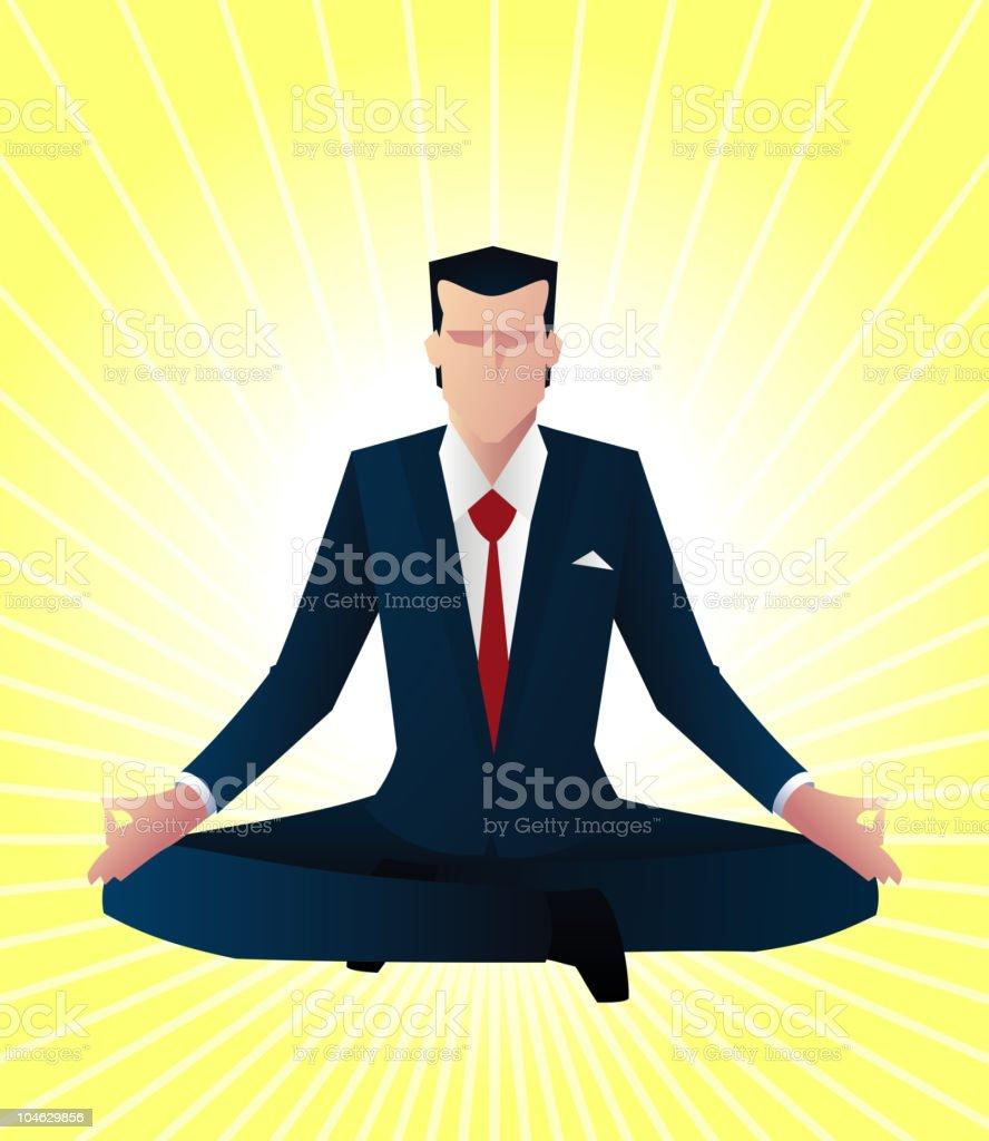 Zen bussines man vector art illustration