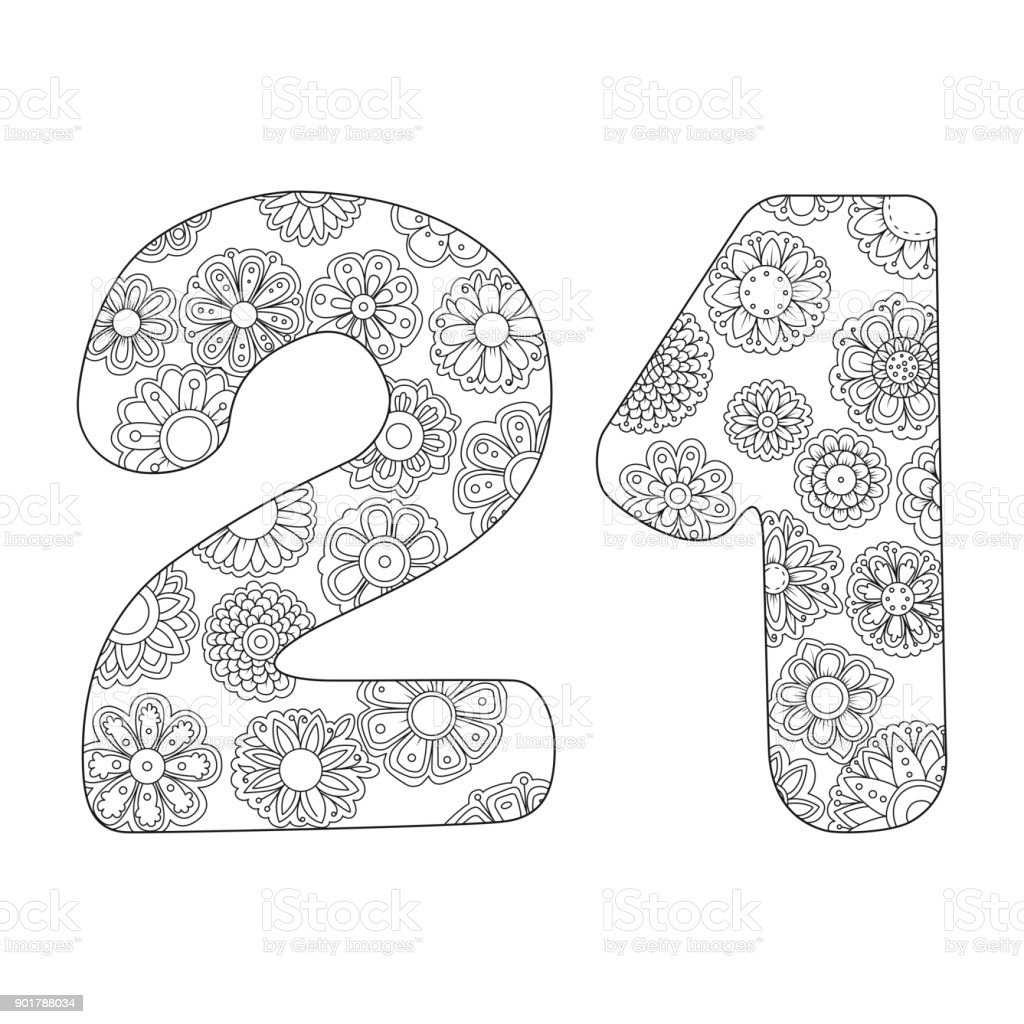 Zen Coloring Book For Adults Number Twenty One Royalty Free