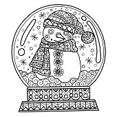 Printable Snow Globe Coloring Pages Clip Art Library
