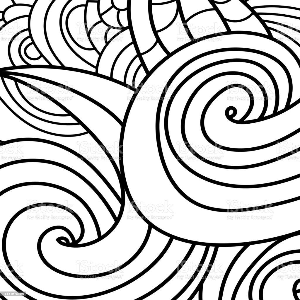 Ilustración De Zen Arena Remolino Patrón De Fondo Y Libro