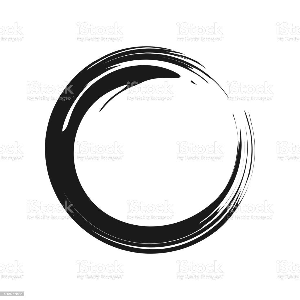 Gráfico de vetor de símbolo de Zen - ilustração de arte em vetor