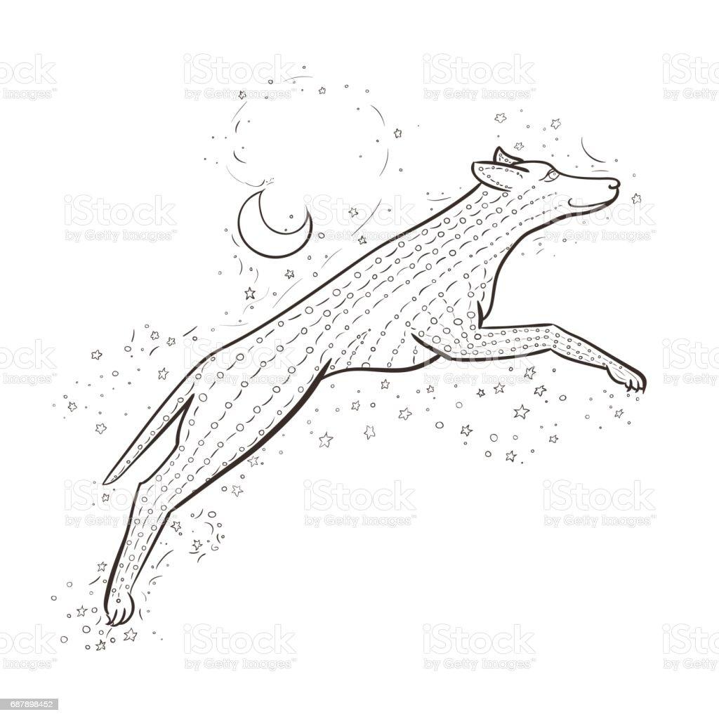 Zen Kurt Arka Plan Gece Gokyuzu Uzerinde Atlar 2018 Yeni Yil