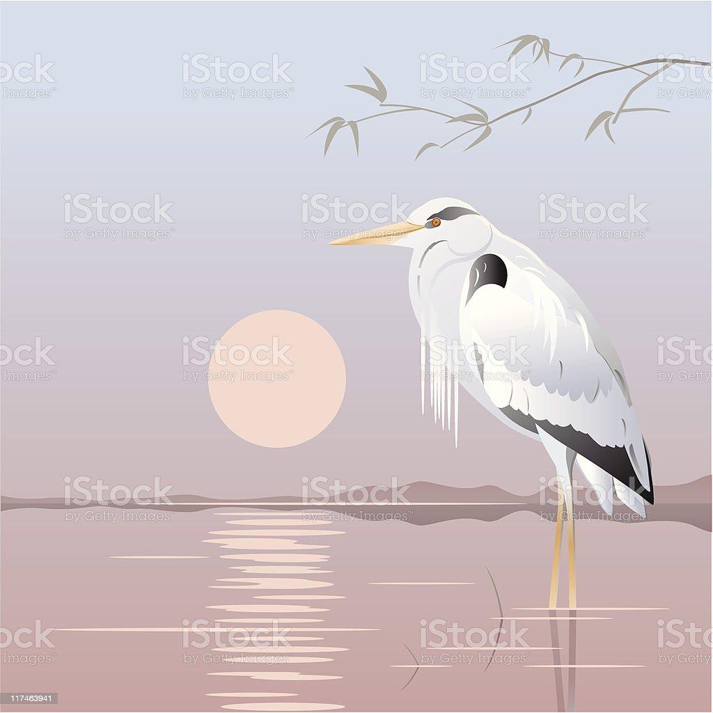 Zen-like vector art illustration