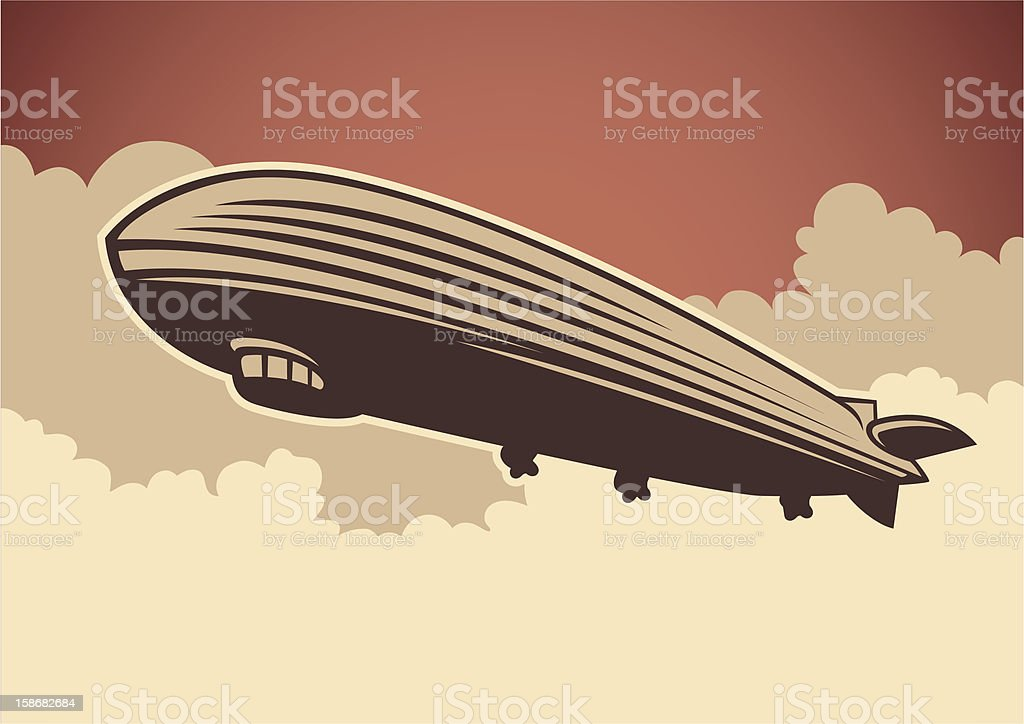 Zeppelin illustration. vector art illustration