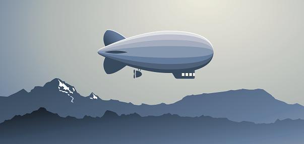 Zeppelin over the Mountains
