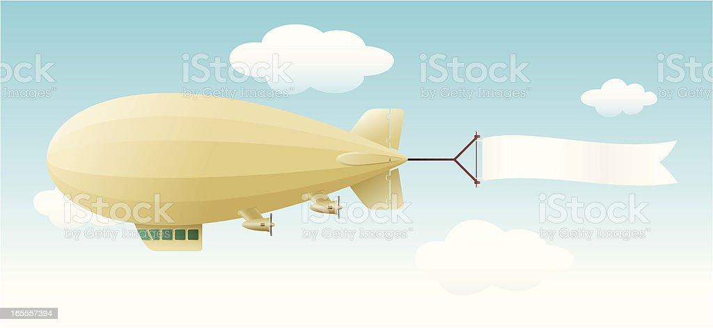 zeppelin vector art illustration